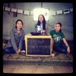 WahWah, DayDay, and Sayra at the Mock Refugee Camp!