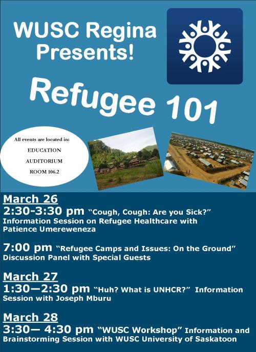 Refugee 101 March 26,27 & 28
