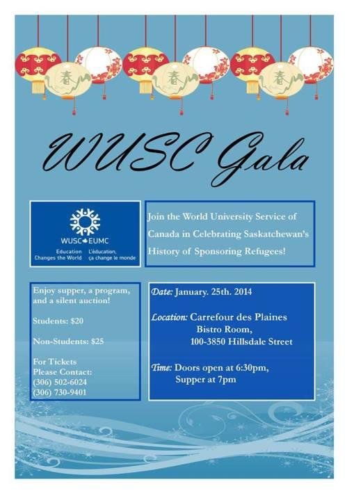 WUSC Gala January 25
